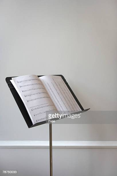 Music Stand with Sheet Music