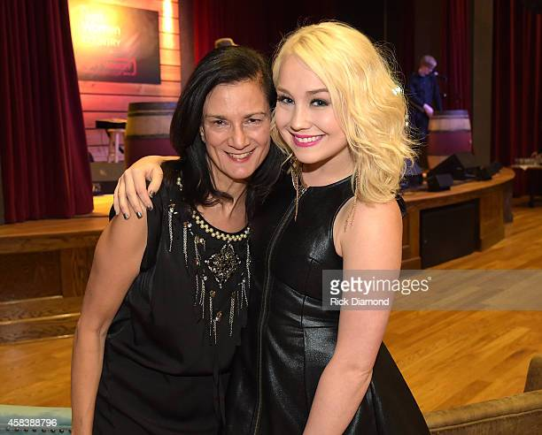 Music Strategy Leslie Fram and RaeLynn attend the CMT Next Women Of Country at City Winery Nashville on November 4 2014 in Nashville Tennessee