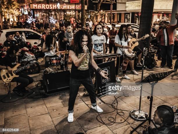 Music street band Bukit Bintang Kuala Lumpur Malaysia