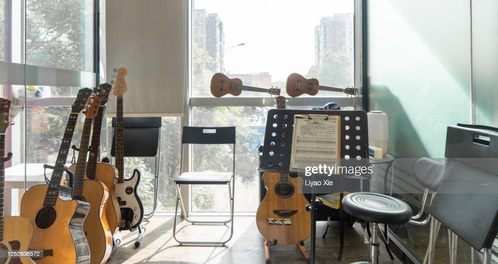 Music studio at home : Stock Photo