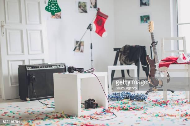 Studio de musique le jour de Noël