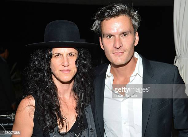Music Supervisor Amanda Demme and actor Balthazar Getty attend the GiveLove 2nd Annual Art Auction And Fundraiser For Haiti With Patricia Arquette...