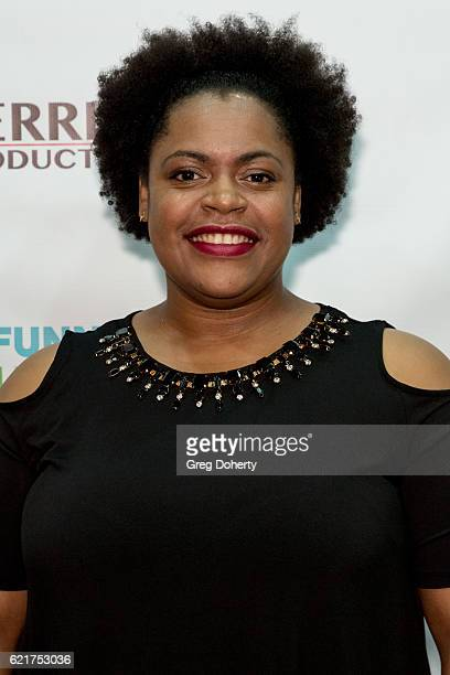 Music Supervisor Carolyn Richardson arrives for the Screening Of Perrine Productions' 'Funny Married Stuff' at the ACME Comedy Theatre on November 7...