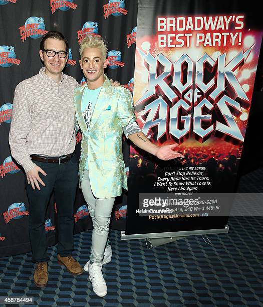 Music supervisor Ethan Popp and actor/dancer Frankie J Grande attend the afterparty for Frankie J Grande's debut performance in the Broadway...
