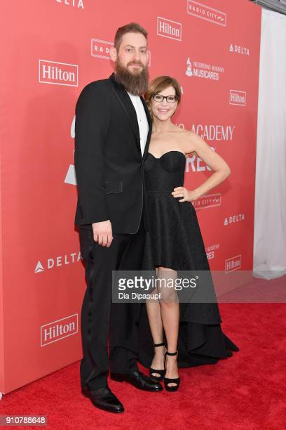 Music supervisor Roey Hershkovitz and recording artist Lisa Loeb attend MusiCares Person of the Year honoring Fleetwood Mac at Radio City Music Hall...