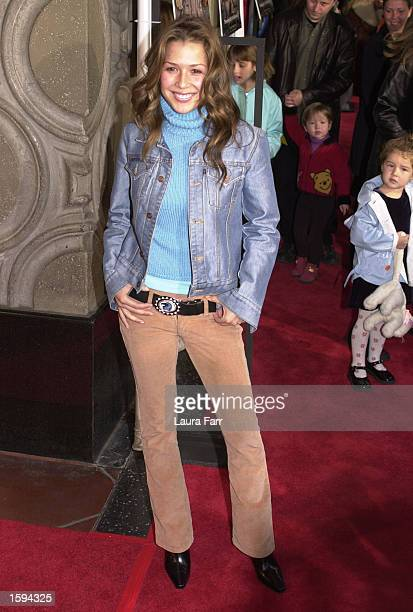 Music Talent Joy Enriquez attends the Walt Disney Picture's Video Premiere of Lady and the Tramp II Scamp's Adventure February 18 2001 in Los Angeles...