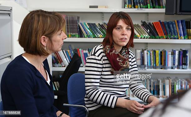 Music therapist Claire Hope during a visit to the Nordoff Robbins Music Therapy Centre on May 2 2013 in London England