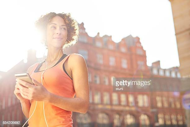 music to inspire my run - liverpool training stock pictures, royalty-free photos & images