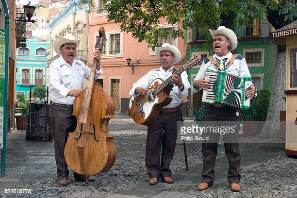 Music Trio Performing in the Street