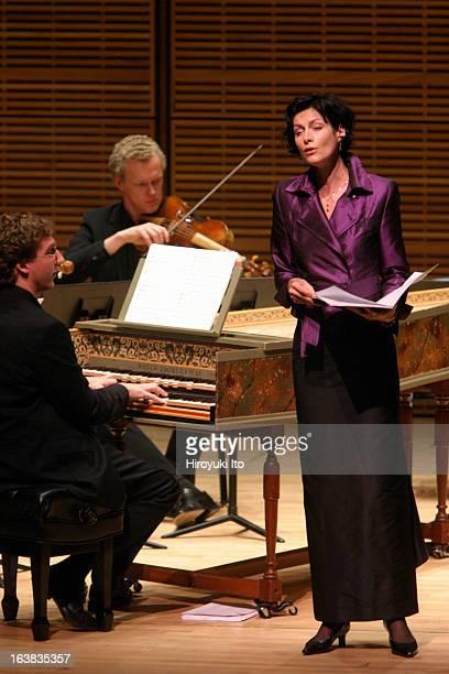 Musica Antiqua Koln performing at Zankel Hall on Thursday night November 2 2006This imageThe contralto Marijana Mijanovic with Leon Berben left and...
