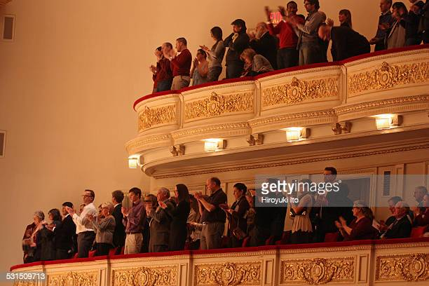 """Musica Sacra performing Handel's """"Messiah"""" at Carnegie Hall on Tuesday night, December 23, 2014.This image:As part of the holiday tradition, audience..."""