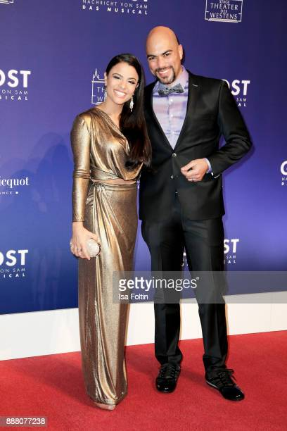 Musical actress Myrthes Monteiro and musical actor Kristofer WeinsteinStorey during the premiere of 'Ghost Das Musical' at Stage Theater on December...