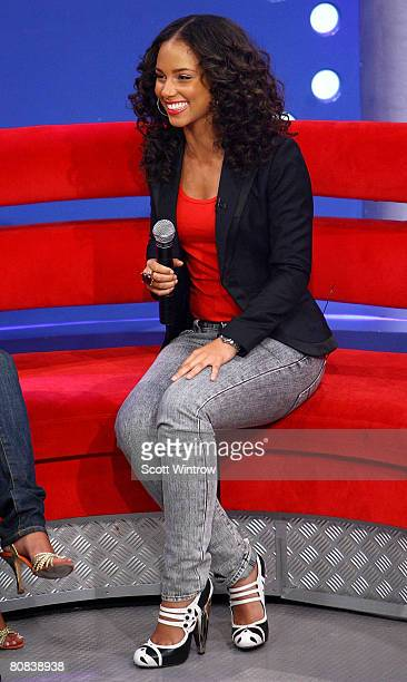 Musical artist Alicia Keys appears onstage at BET's 106 Park at BET Studios on April 23 2007 in New York City