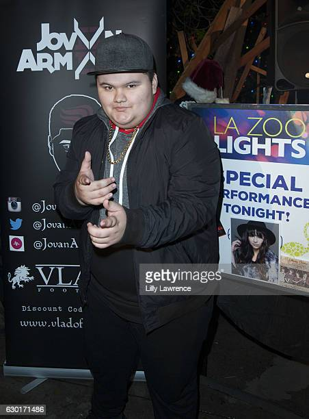 Musical artist and actor Jovan Armand attends Special Mahkenna Jesaiah Jovan and Olivia performance at the LA Zoo Lights at Los Angeles Zoo on...
