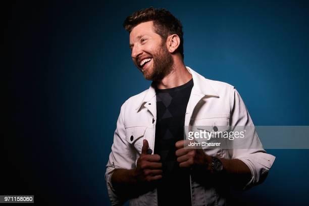 Musical artist Brett Eldredge poses in the portrait studio at the 2018 CMA Music Festival at Nissan Stadium on June 10 2018 in Nashville Tennessee