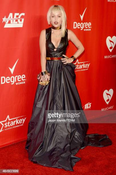 Musical artist Brooke Candy attends The 2014 MusiCares Person Of The Year Gala Honoring Carole King at Los Angeles Convention Center on January 24...