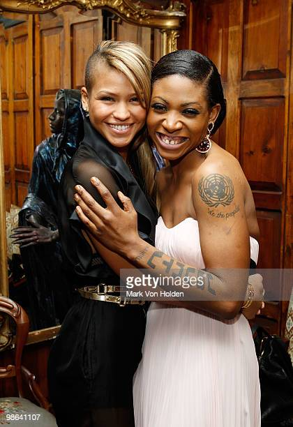 """Musical artist Cassie and Celebrity Activist Suzanne """"Africa"""" Engo attend the I Love Africa private send off dinner for the Riviera to Africa Run for..."""