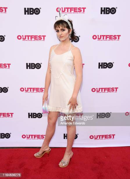 Musical artist Chanel Samson of Chanel The Circus arrives at the 2019 Outfest Los Angeles LGBTQ Film Festival Closing Night Gala Premiere of Before...