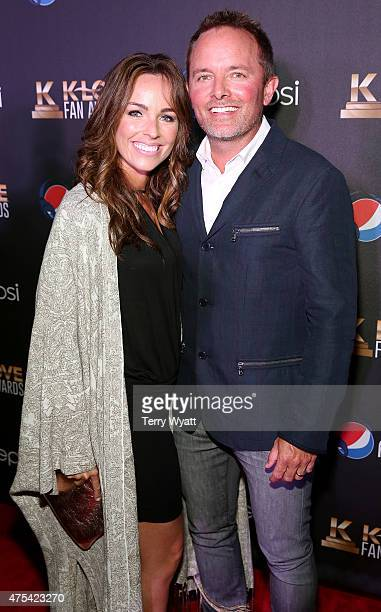 Musical artist Chris Tomlin and wife Lauren Bricken attend the 3rd Annual KLOVE Fan Awards at the Grand Ole Opry House on May 31 2015 in Nashville...