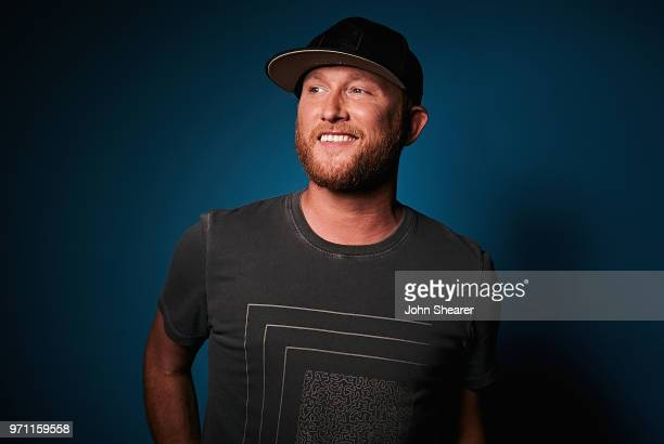 Musical artist Cole Swindell poses in the portrait studio at the 2018 CMA Music Festival at Nissan Stadium on June 10 2018 in Nashville Tennessee