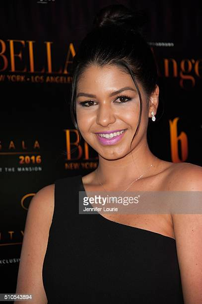 Musical Artist Dani Rey arrives at the 2016 City Gala Fundraiser at The Playboy Mansion on February 15 2016 in Los Angeles California