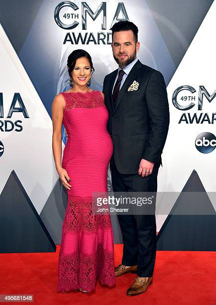 Musical artist David Nail and Catherine Werne attend the 49th annual CMA Awards at the Bridgestone Arena on November 4, 2015 in Nashville, Tennessee.