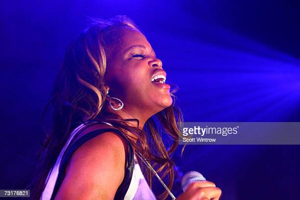 Musical artist Eve performs live during the Miss Sixty Fall/Winter 2007 collection after party at 7 World Trade Center on February01 2007 in New York...