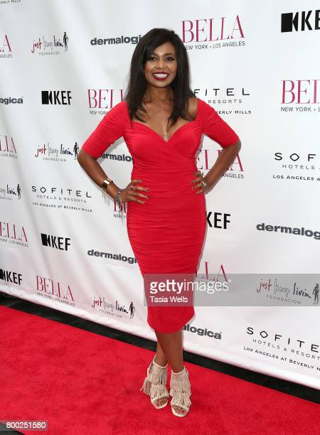 Musical artist Ezina attends the BELLA Los Angeles Summer Issue Cover Launch Party at Sofitel Los Angeles At Beverly Hills on June 23 2017 in Los...