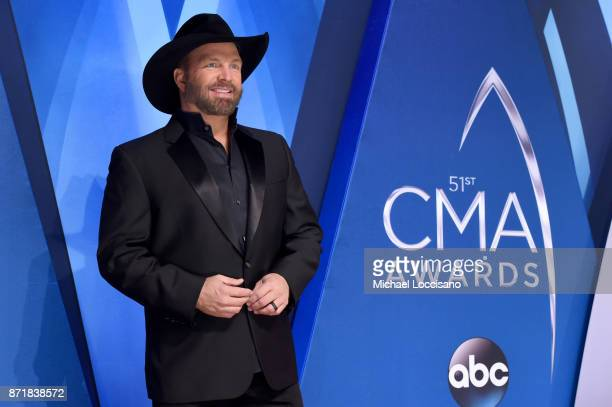 Musical artist Garth Brooks attends the 51st annual CMA Awards at the Bridgestone Arena on November 8 2017 in Nashville Tennessee