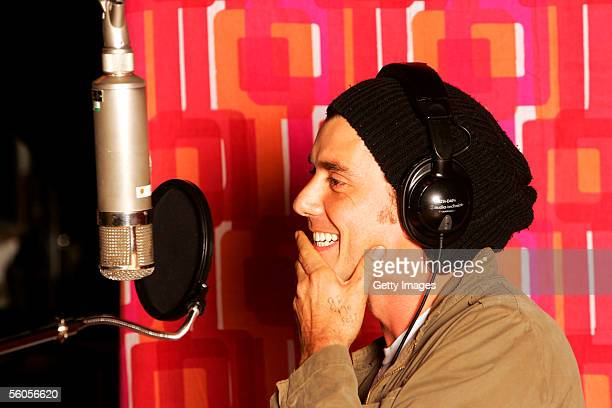 Musical artist Gavin Rossdale records the Tsunami relief charity single a cover of the Sir Eric Clapton ballad 'Tears In Heaven' at a Los Angeles...