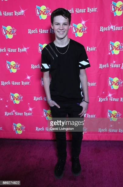 Musical artist Hayden Summerall attends social media influencer Annie LeBlanc's 13th birthday party at Calamigos Beach Club on December 9 2017 in...