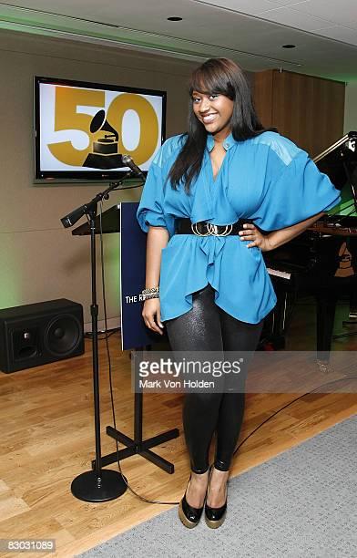 Musical Artist Jazmine Sullivan attends the New York Chapter of NARAS Open House Reception at New York Chapter Office on September 23 2008 in New...