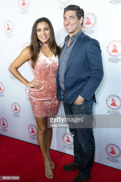 Musical Artist Jessy L and her husband David attend the Latin GRAMMY Acoustic Sessions With Becky G Camila And Melendi at The Novo by Microsoft on...