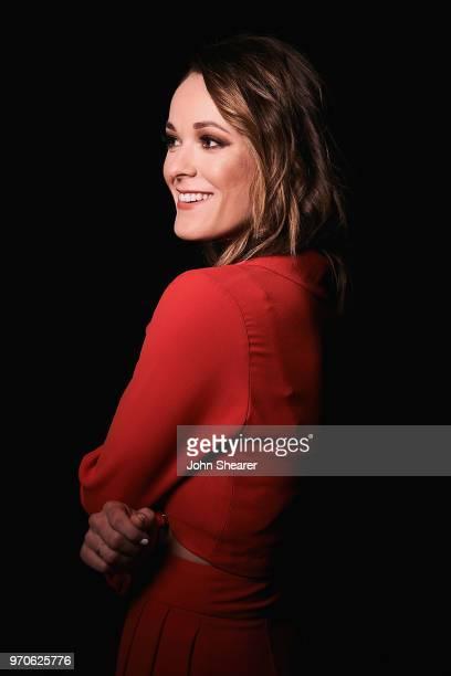 Musical artist Jillian Jacqueline poses in the portrait studio at the 2018 CMA Music Festival at Nissan Stadium on June 9, 2018 in Nashville,...