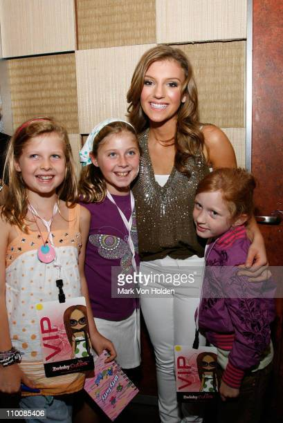Musical Artist Jordan Pruit poses with fans at the Hollywood Records Star Jordan Pruitt Joins IAC CEO Barry Diller For Debut of New Tween Virtual...