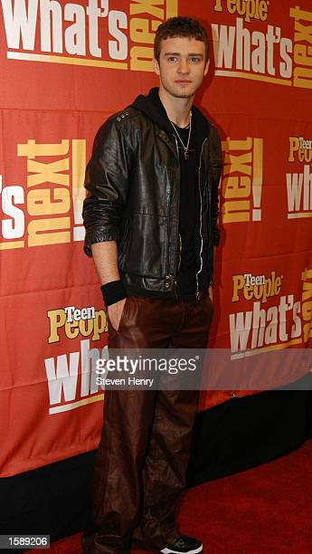 Musical Artist Justin Timberlake attends the Teen People magazine's What's Next 2002 issue celebrations on November 5 2002 in New York City