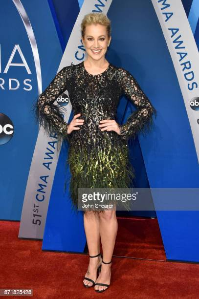 Musical artist Kellie Pickler attends the 51st annual CMA Awards at the Bridgestone Arena on November 8 2017 in Nashville Tennessee