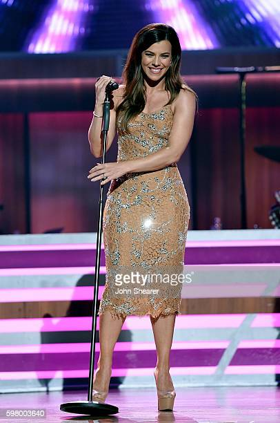 Musical artist Kimberly Perry from musical group The Band Perry performs onstage during the 10th Annual ACM Honors at the Ryman Auditorium on August...