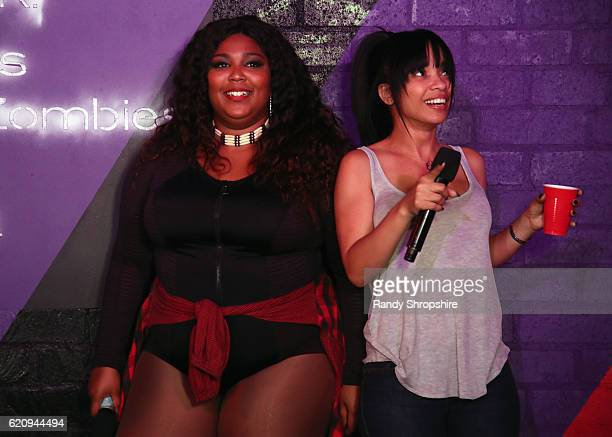 Musical artist Lizzo and Karrine Steffans at MTV's Wonderland LIVE Show on November 3 2016 in Los Angeles California