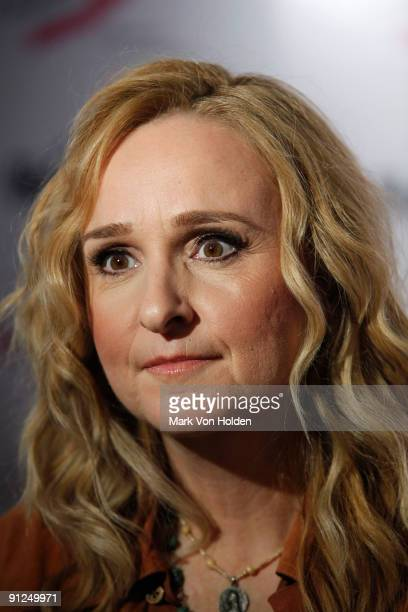Musical artist Melissa Etheridge attends Delta's Kick Off for Breast Cancer Awareness Month at JFK Airport on September 29 2009 in New York City