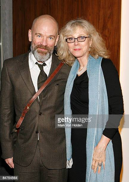 Musical artist Michael Stipe and actress Blythe Danner attend the after party for the Cinema Society and Salvatore Ferragamo screening of Two Lovers...