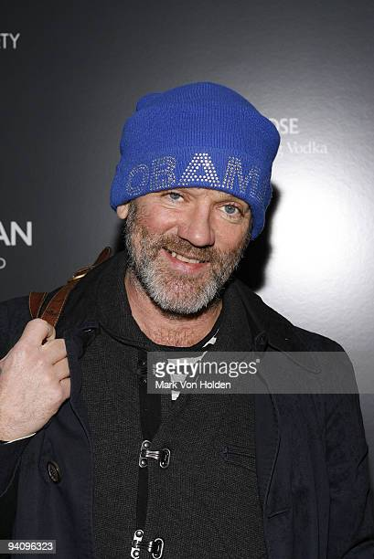 """Musical artist Michael Stipes attends a screening of """"A Single Man"""" hosted by the Cinema Society and Tom Ford at The Museum of Modern Art on December..."""