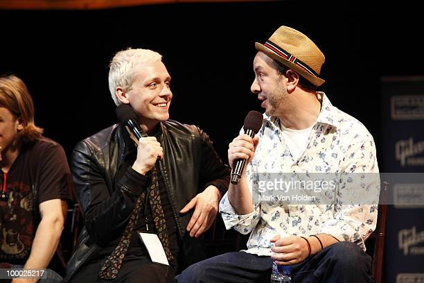 Musical artist Mr Hudson and producer Sam Hollander speak at GRAMMY Career Day at Pace University Michael Schimmel Center for the Arts on May 20 2010...