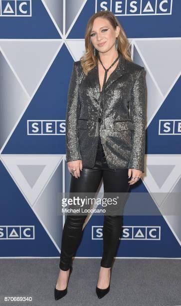 Musical artist Olivia Lane arrives at the 2017 SESAC Nashville Music Awards on November 5 2017 in Nashville Tennessee