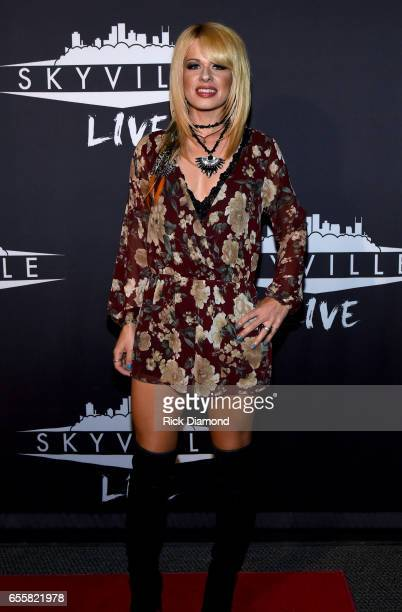 Musical artist Orianthi attends a special Woman's March Show at Skyville Live on March 20 2017 in Nashville Tennessee