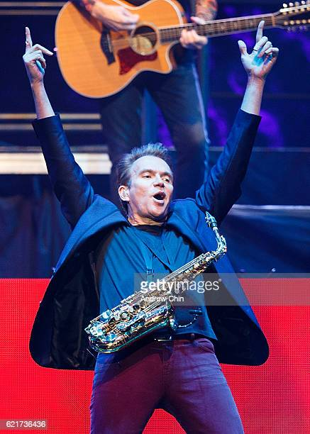 Musical artist Ray Herrmann of rock band Chicago performs on stage at Rogers Arena on November 7, 2016 in Vancouver, Canada.