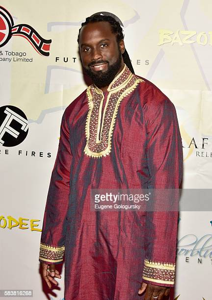 Musical artist RemBunction attends Bazodee premiere and concert featuring Machel Montano and friends at PlayStation Theater on July 27 2016 in New...