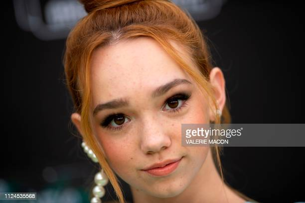 Musical artist Ruby Jay attends the world premiere of Disney channel original movie 'Kim Possible' in North Hollywood California on February 12 2019