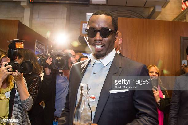 Musical Artist Sean Diddy Combs and CIROC Ring the NYSE Closing Bell at New York Stock Exchange on August 30 2016 in New York City