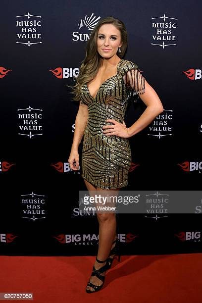 Musical artist Tara Thompson attends the Big Machine Label Group's celebration of the 50th Annual CMA Awards at Marathon Music Works on November 2...